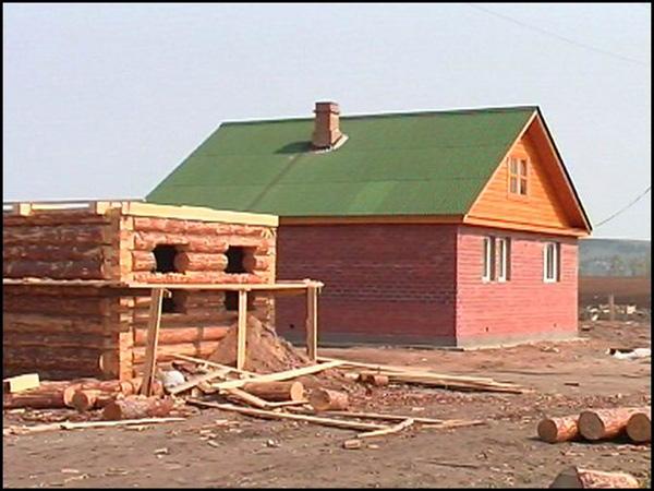 фото деревенские домстроение